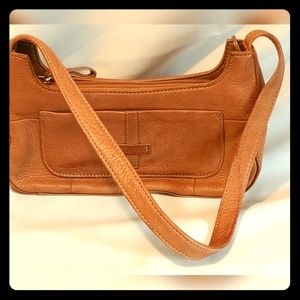 VINTAGE FOSSIL TAN LEATHER SMALL PURSE SL3700 EUC